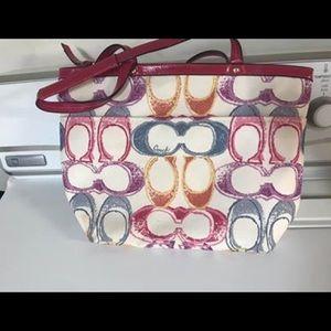 Authentic Coach colorful shoulder bag